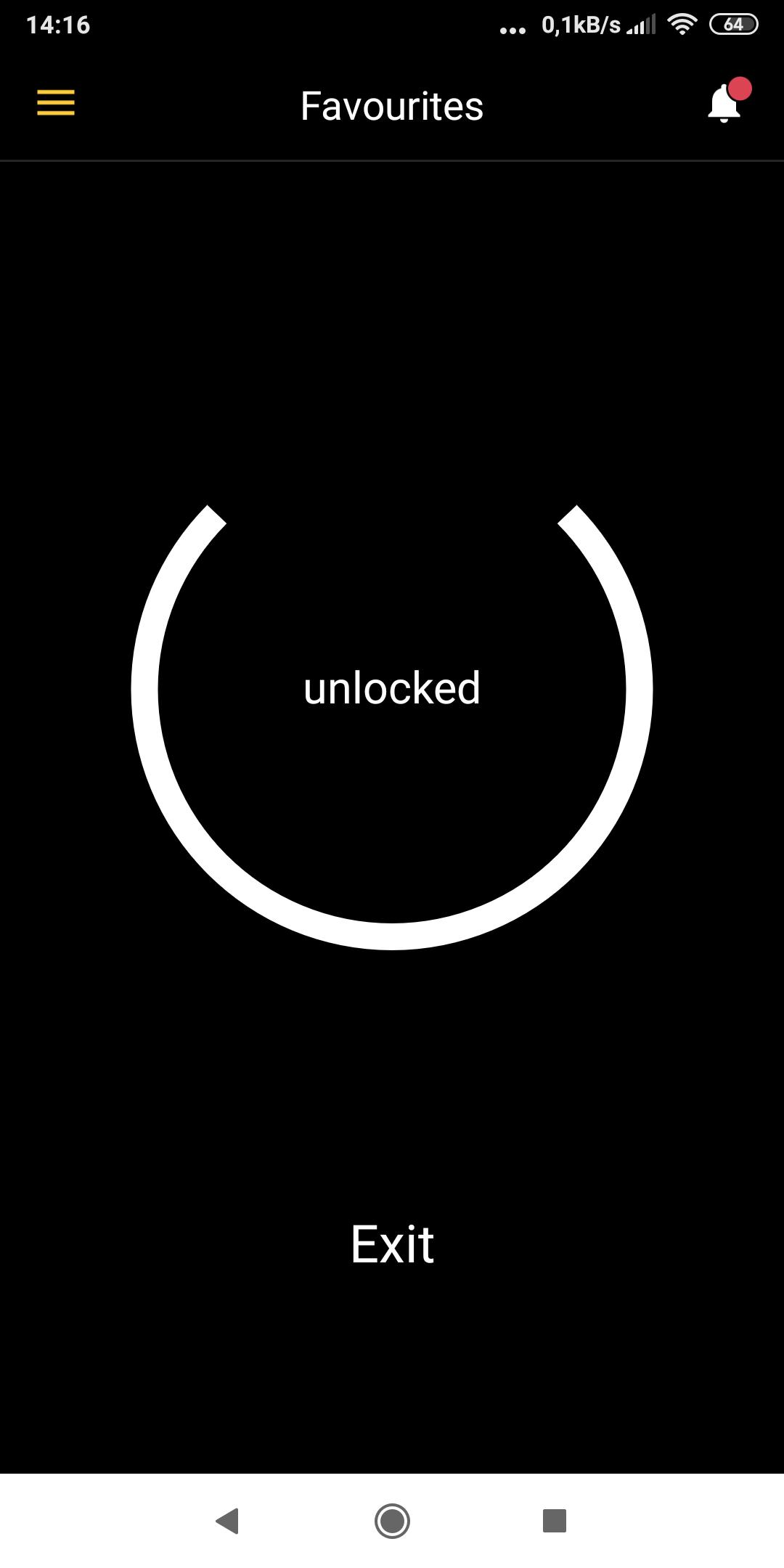 Obraz z komórki aplikacji NUKI
