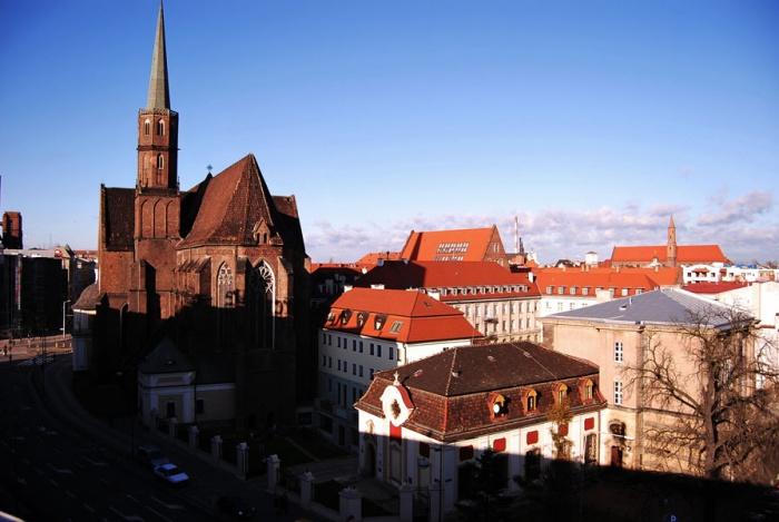 Wygląd klasztoru Dominikanów we Wrocławiu