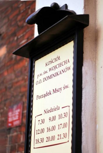 Tablica klasztoru dominikanów we Wroclawiu