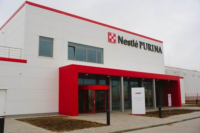 """Budynek fabryki """"Nastle - Purina"""""""