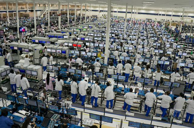 Fabryczna linia produkcyjna